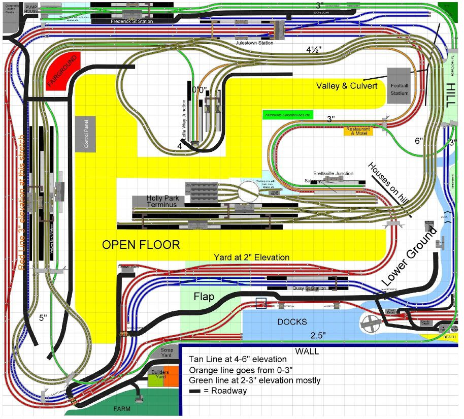 Mike's model train layout | Model railway layouts plans | Layouts