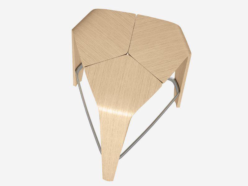 Sgabello alto in legno hoc by brunner design jehs laub