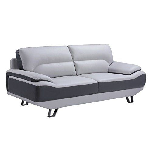 Global Furniture Natalie Sofa Light Grey And Dark Grey