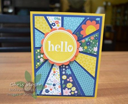 Starburst Hello Sunburst Cards Simple Birthday Cards Card Making Templates