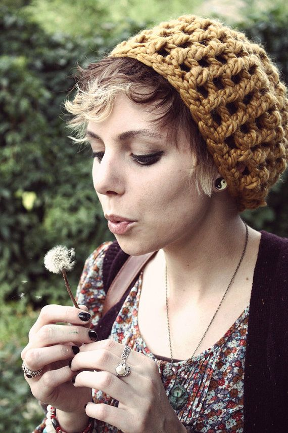 Quick slouch hat. | hekle luer | Pinterest | Gorros, Gorro tejido y ...
