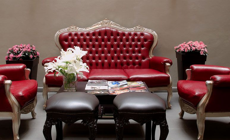 Design Living Room at Borghese Palace Art Hotel in Florence