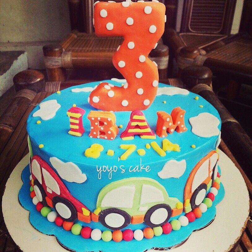 Car birthday cake colourful Like it by Yoyos Cake