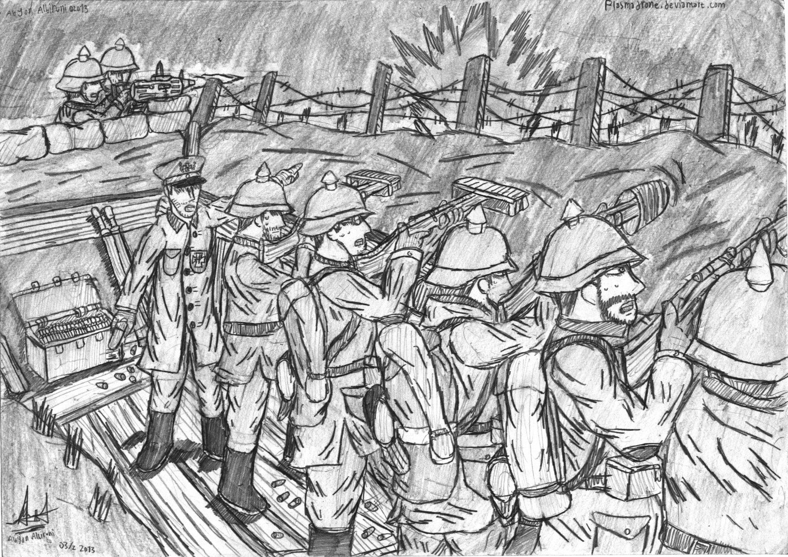 German Trenches Wwi