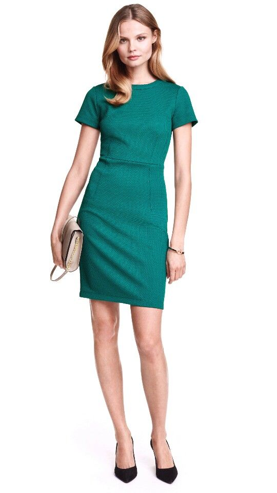 Love this green and the style dress