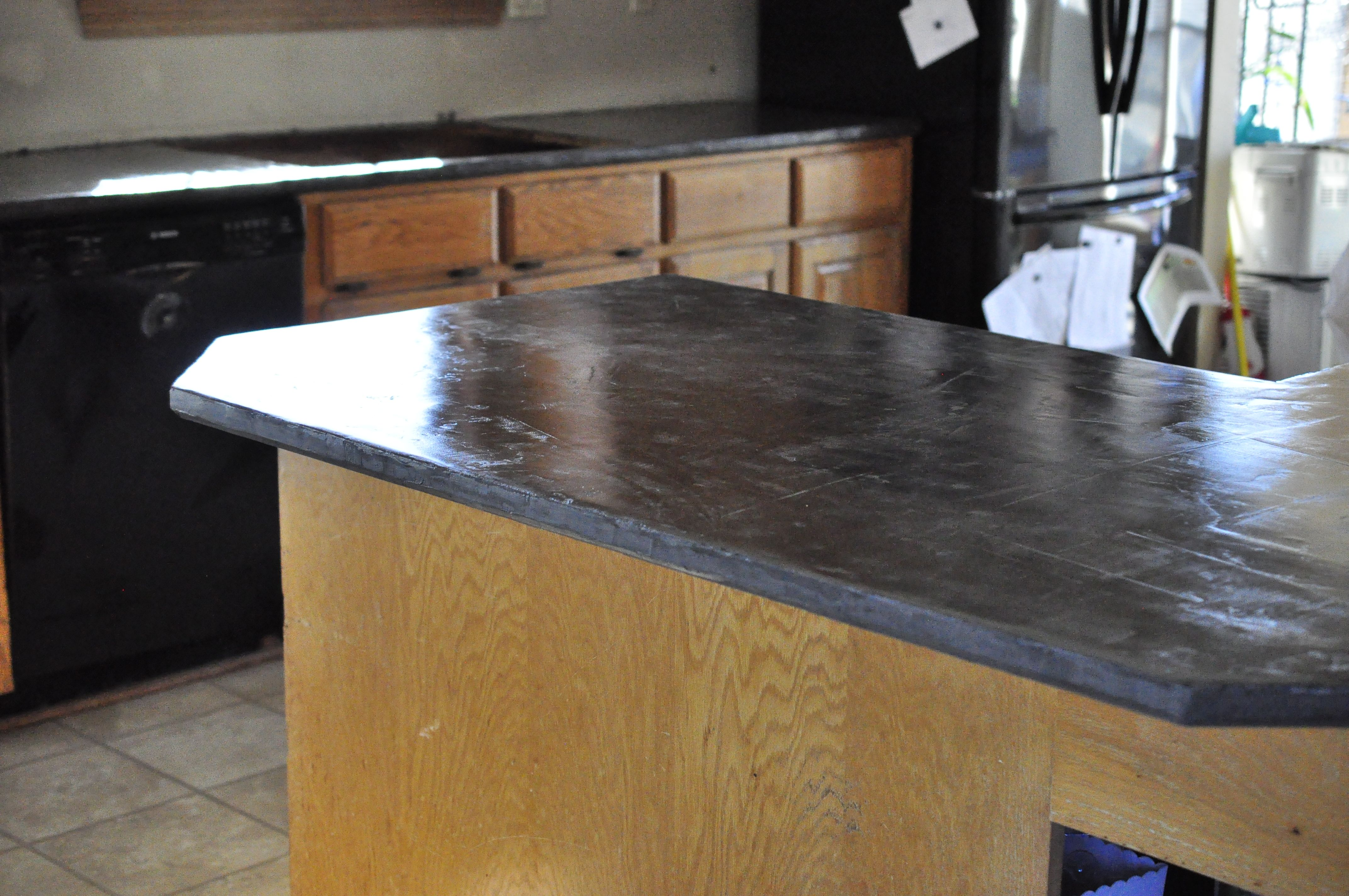Finished Concrete Countertops Faux Concrete Countertops Super Easy I Used Henry