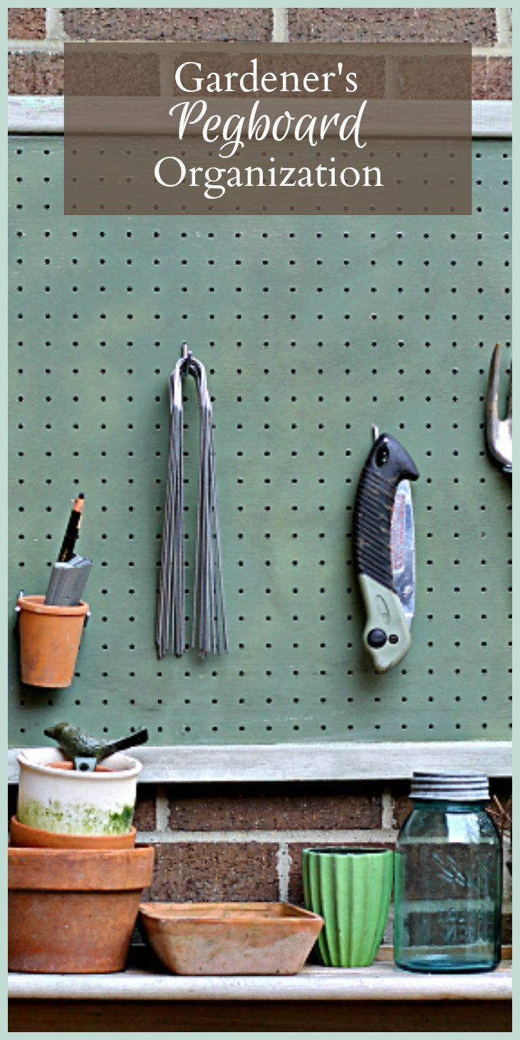 Get Organized with a Gardener\'s Pegboard   Outdoor supplies, Bench ...