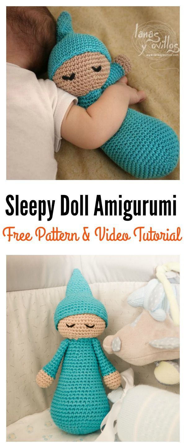 Free Sleepy Doll Amigurumi Crochet Pattern and Video Tutorial