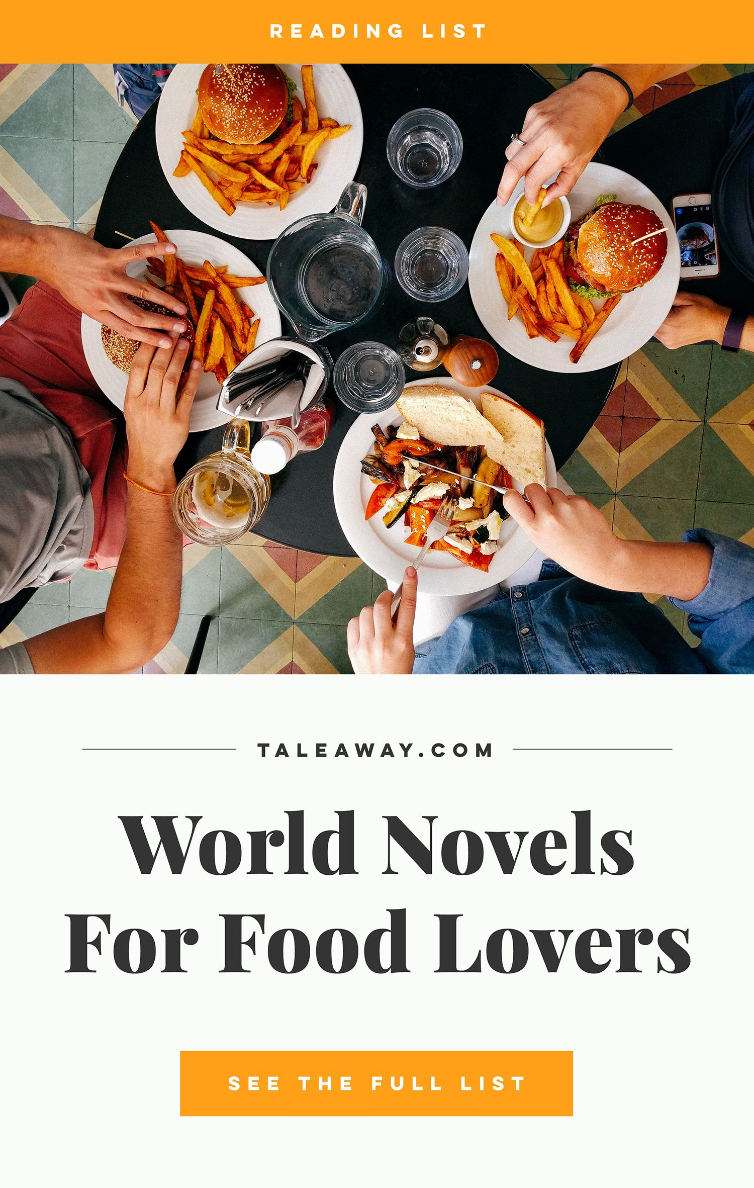 Food Novels Books for Food Lovers from Around The World