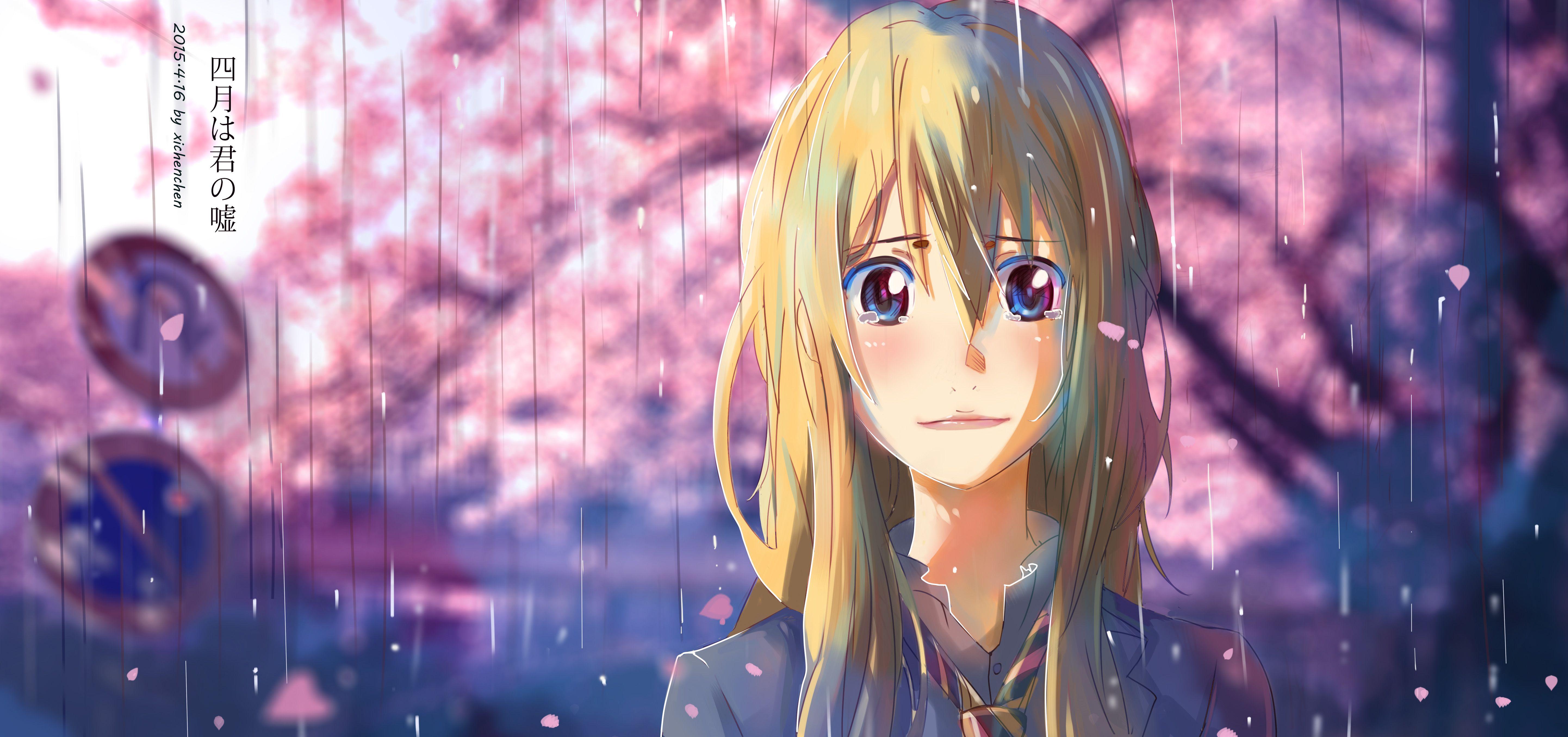 Anime Your Lie In April Kaori Miyazono Wallpaper Hinh Nền Hinh