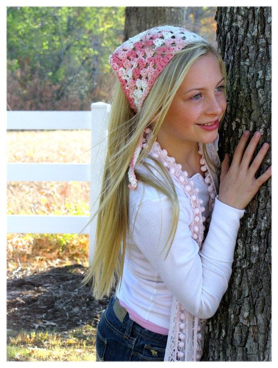 Hair Accessories Pink Bandana Tween By Foreverandrea 22 00