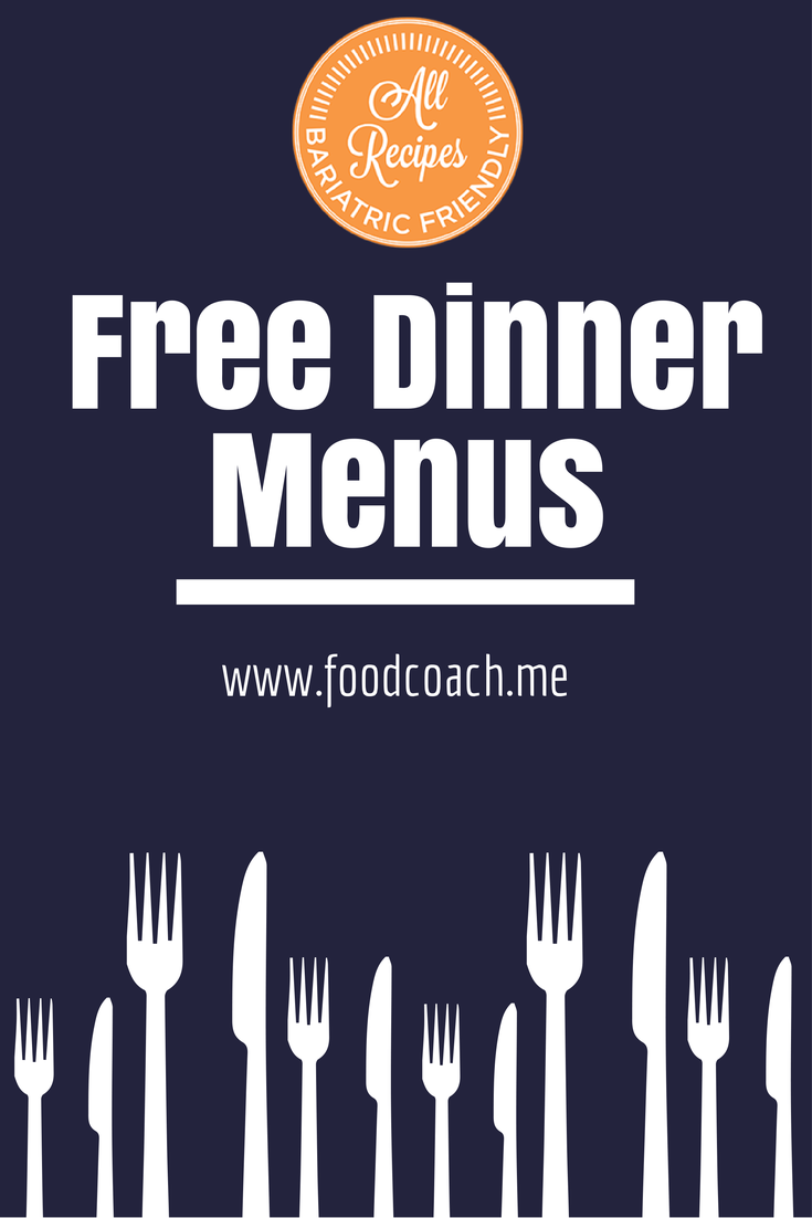 Free Bariatric Meal Plans At Www Foodcoach Me Regular Plan Has 6
