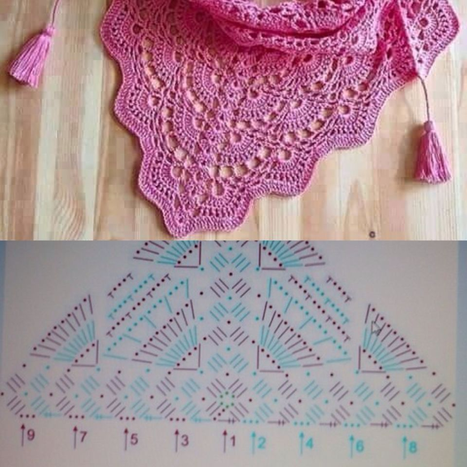 Chal a crochet | Crochet Shawls and Scarfs with Pattern | Pinterest ...