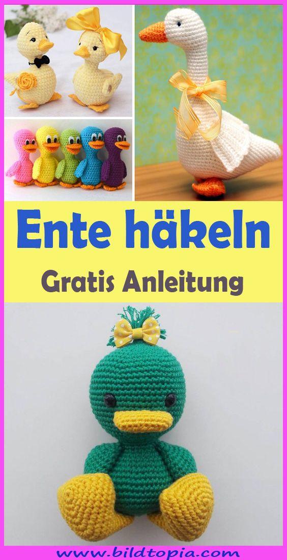 Amigurumi Ente häkeln – kostenlose & einfache Anleitung  – Häkeln – Anleitungen