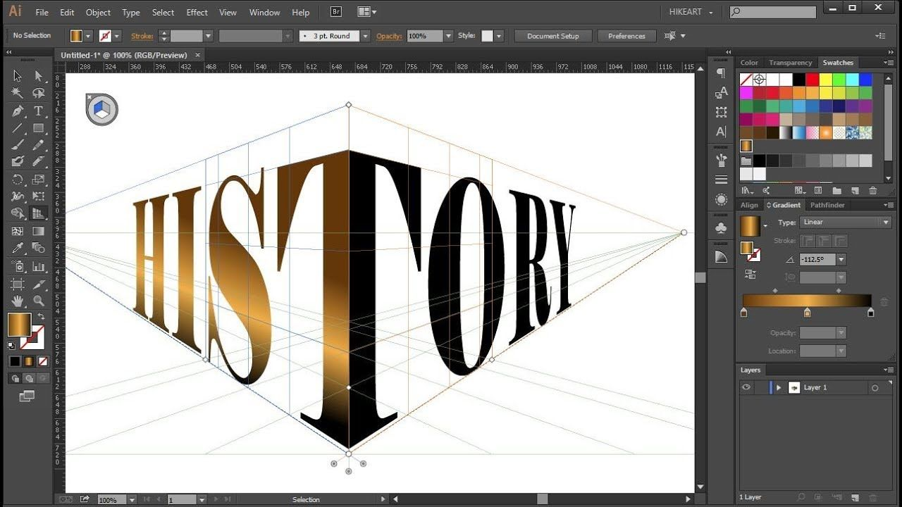 How To Wrap A Single Word Around The Perspective Grid Planes In Adobe I Graphic Design Tools Adobe Illustrator Design Adobe Design