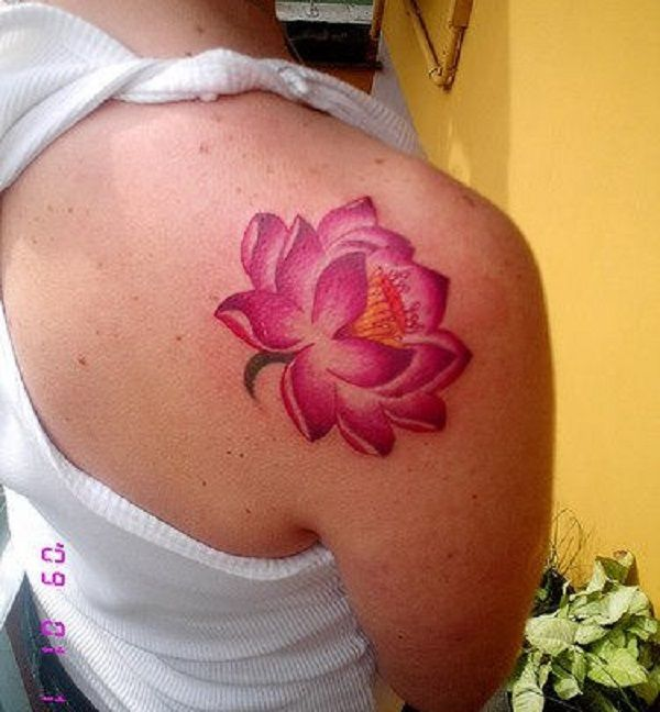 70 lotus tattoo design ideas lotus flower lotus and tattoo beautiful pink lotus flower inked on the shoulder the pink lotus flower has a strong meaning on its own having a single tattoo on your shoulder of the mightylinksfo