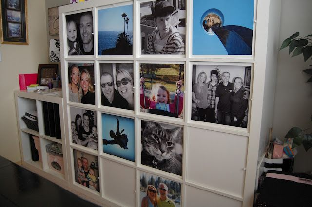 Large Photos Mounted On Foam Core Board For The Openings Of My Expedit Bookcase Craft Storage Photo Mount Craft Room