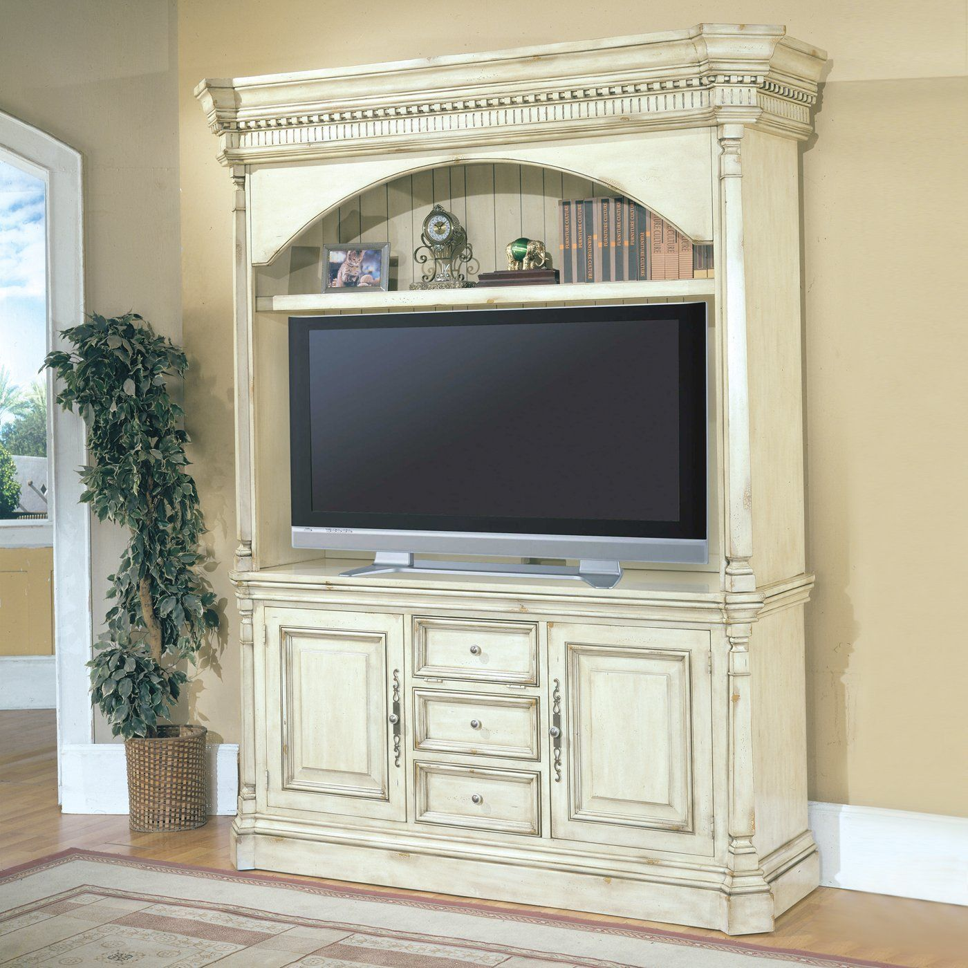 Parker house wes 600 3ec westminster three piece entertainment center home furniture showroom for The parkers tv show living room