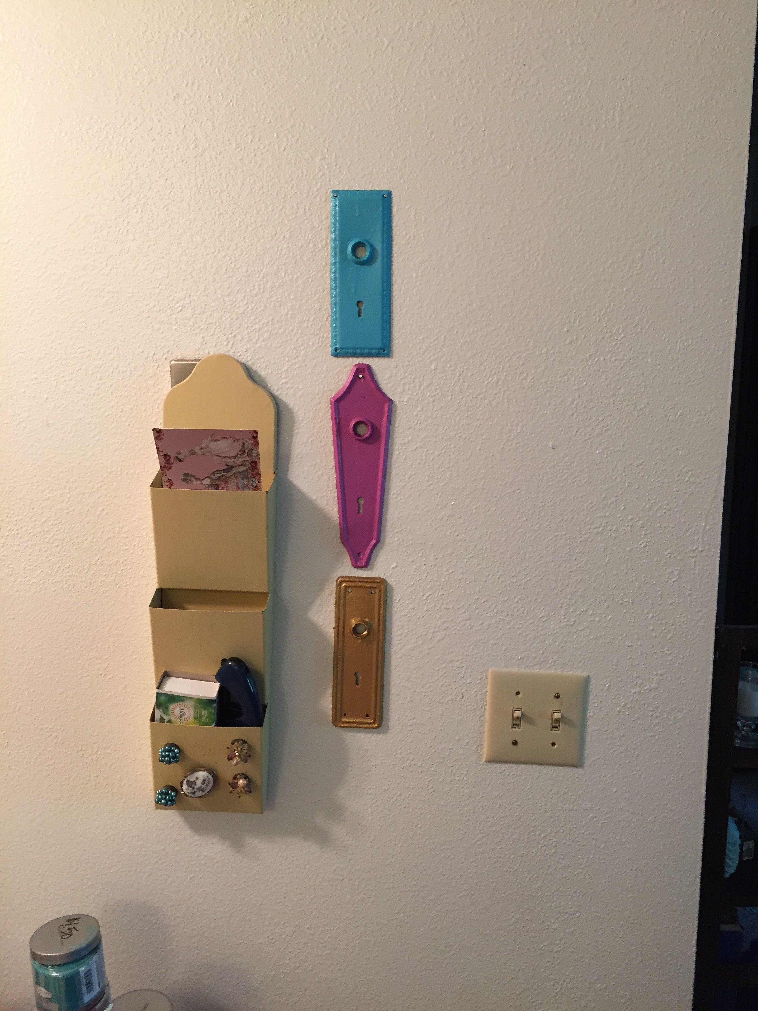 Painted old door locks