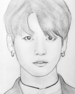 Desenho De Jeon Jungkook Super Realista Kpop Drawings Easy Drawings Sketches Bts Drawings
