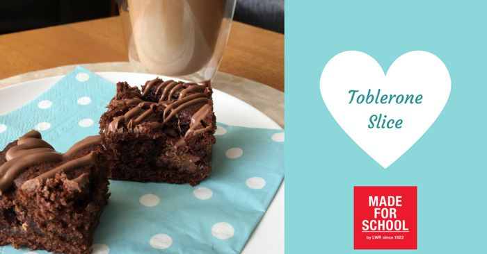 recipe for decadent brownie toblerone slice share it with friends natalie