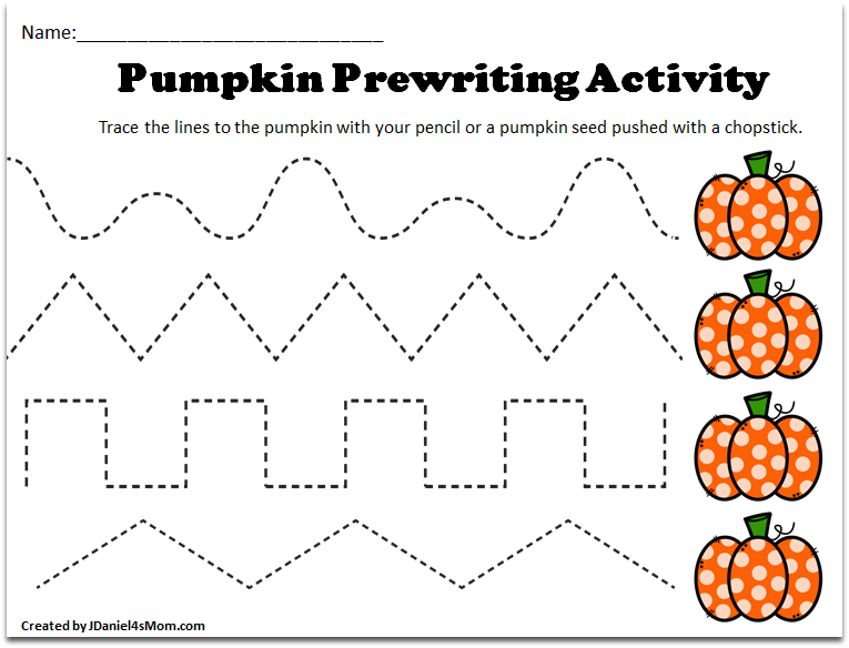 Pre K Tracing Worksheets with a Pumpkin Theme -There are ...