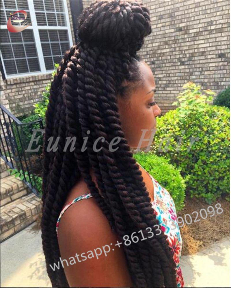 Curly crochet goddess two strand twist braids hair extensions havana