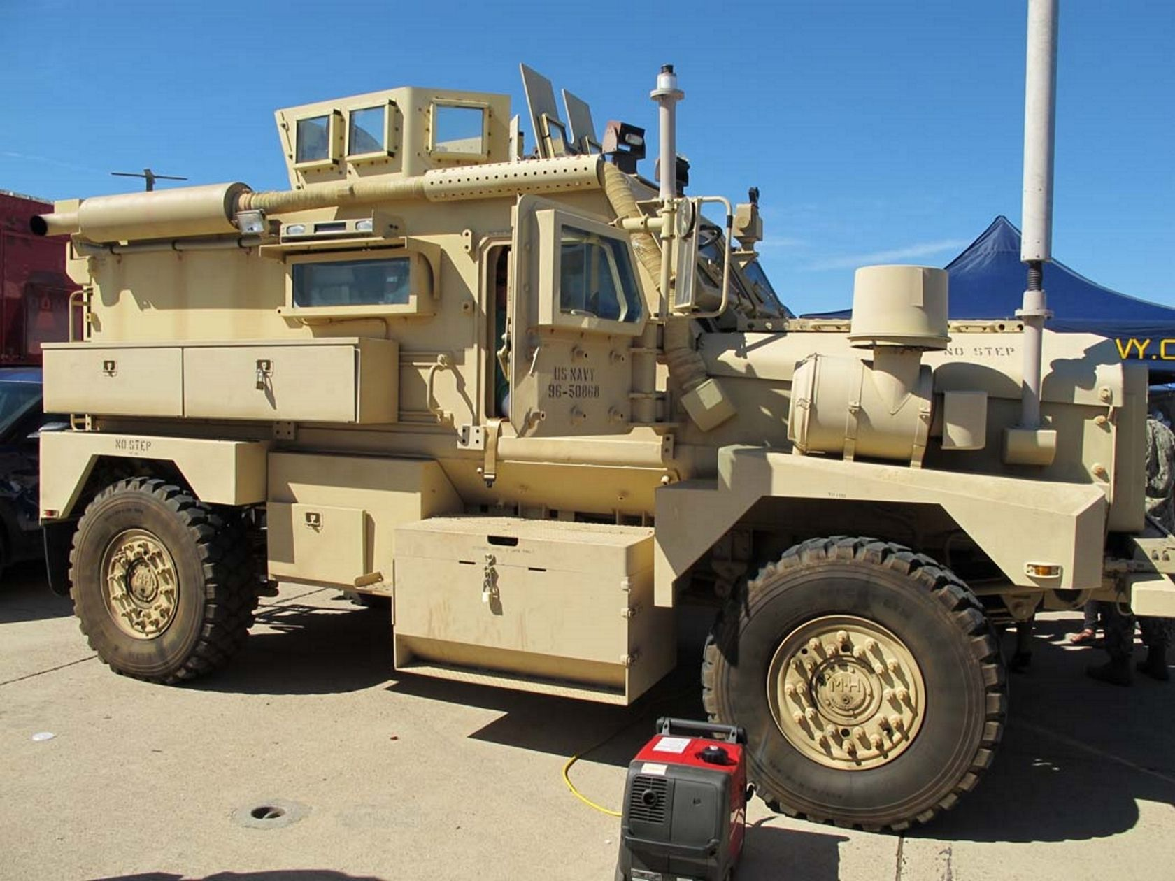 The cougar is an mrap and infantry mobility vehicle structured to be resistant to landmines and