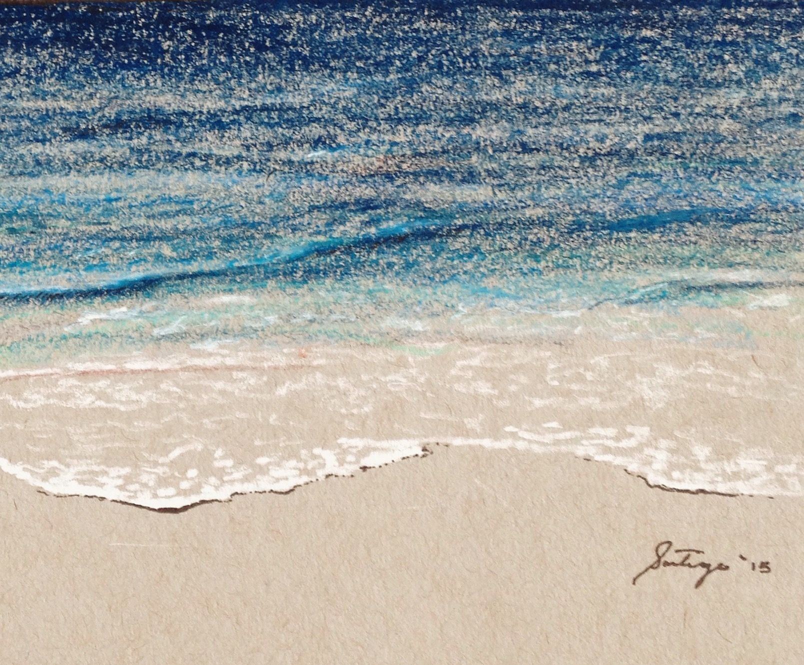 Stress less coloring by the shore - A Colored Pencil Sketch From My Last Trip To The Beach Ocean Sketch