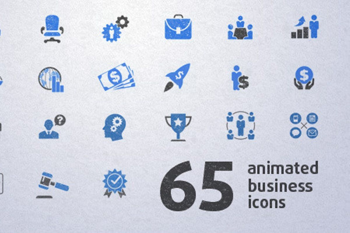 Download 65 Animated Business Icons Video Templates By Elmake