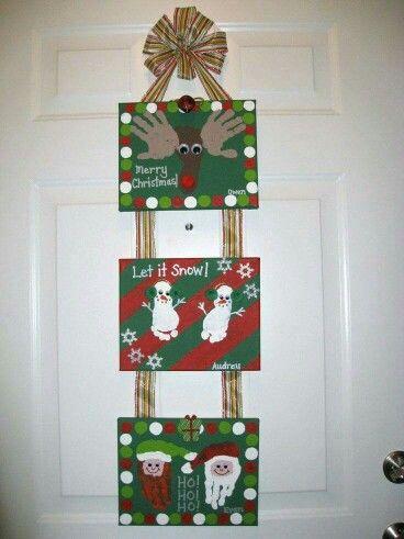 Hand Feet Kids Prints Christmas Hanging Navidad