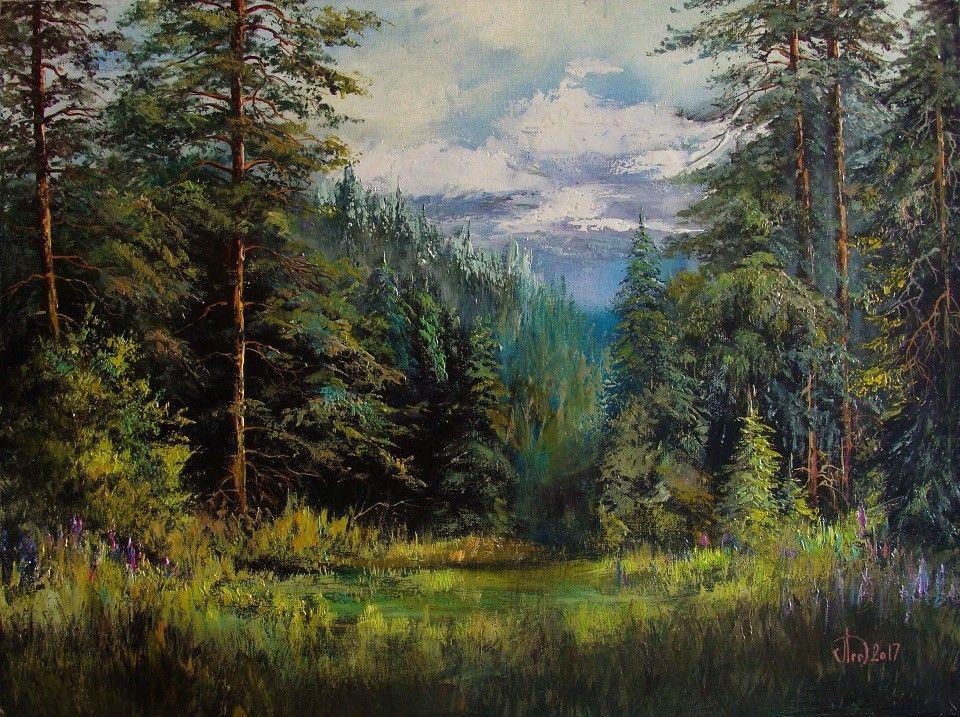 заключить лес живопись картинки миндалевидного разреза