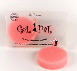 Don't Sweat It    You can contort your body into eight different yoga poses to get your T-shirt on after a workout, yet still manage to get those pesky white deodorant spots on it. With Gal Pal Garment Deodorant Removers it's a cinch to wipe away white marks on any type of fabric.    $10; gal-pal.com