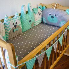 Crib bumpers - Baby bed bumper - Crib bedding - Cot bumper set