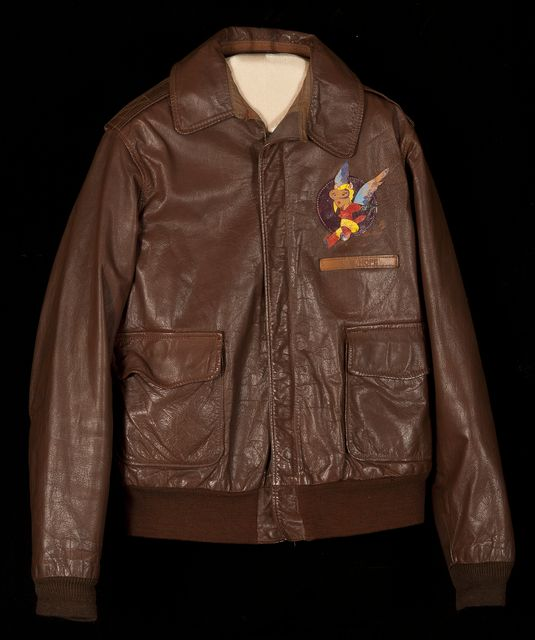 400a0b62f30 U.S. Army Air Force leather summer flying jacket worn by W.A.S.P. ...
