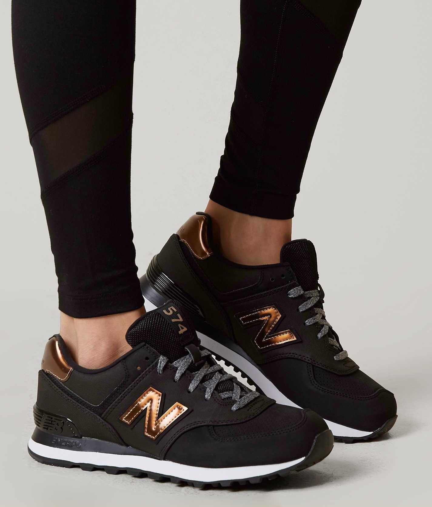 New Balance Varsity Sport Shoe Women S Shoes In Black Metallic Bronze Buckle Sport Shoes Women Sports Shoes Outfit Shoes Outfit Fashion