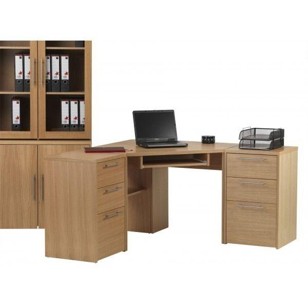 Oakwood Corner Desk In Oak By Alphason Is A Stylish Home