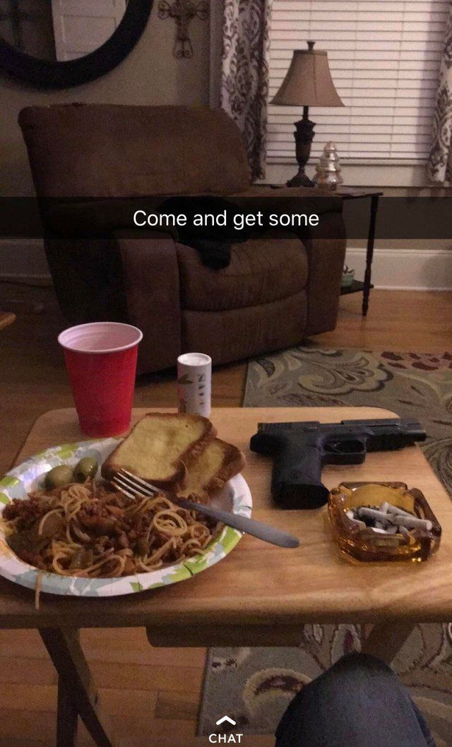 My dad's Snapchat post last night Coffee table, Mess