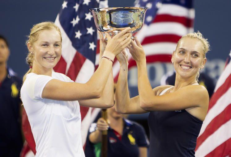 US Open gewonnen: Die Russinnen Jekaterina Makarowa und Jelena Wesnina gewannen im Doppel die US Open 2014. Für sie ist es der zweite Grand-Slam-Titel nach den French Open 2013. Mehr Bilder des Tages auf: http://www.nachrichten.at/nachrichten/bilder_des_tages/ (Bild: gepa)