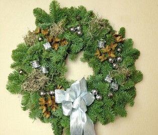 Holiday Wreath - Nobel Silver