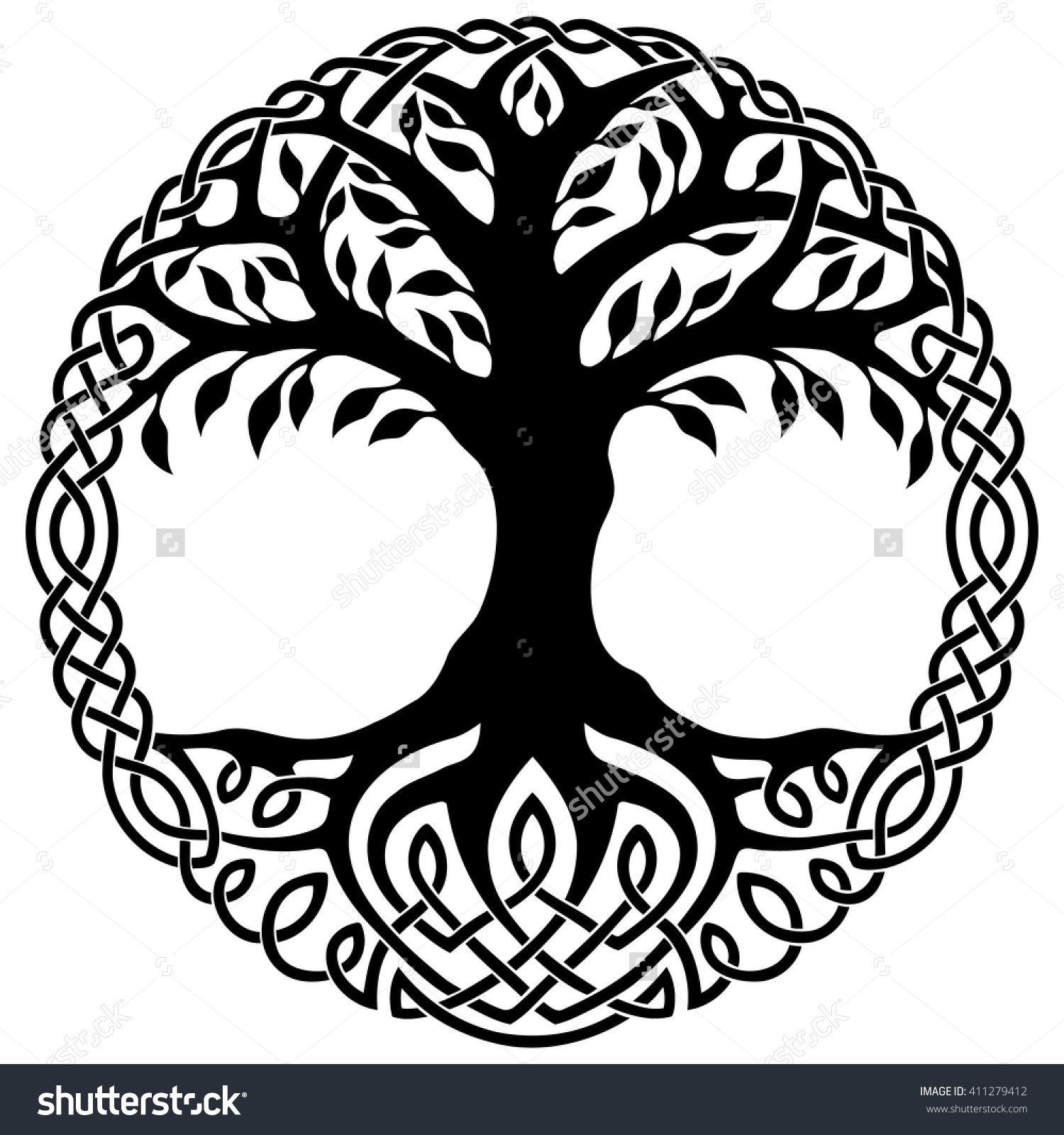 Vector ornament, decorative Celtic tree of life | Pagan stuff ...