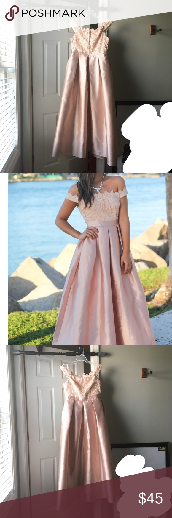 Prom dress my posh picks pinterest prom dress prom and pink white