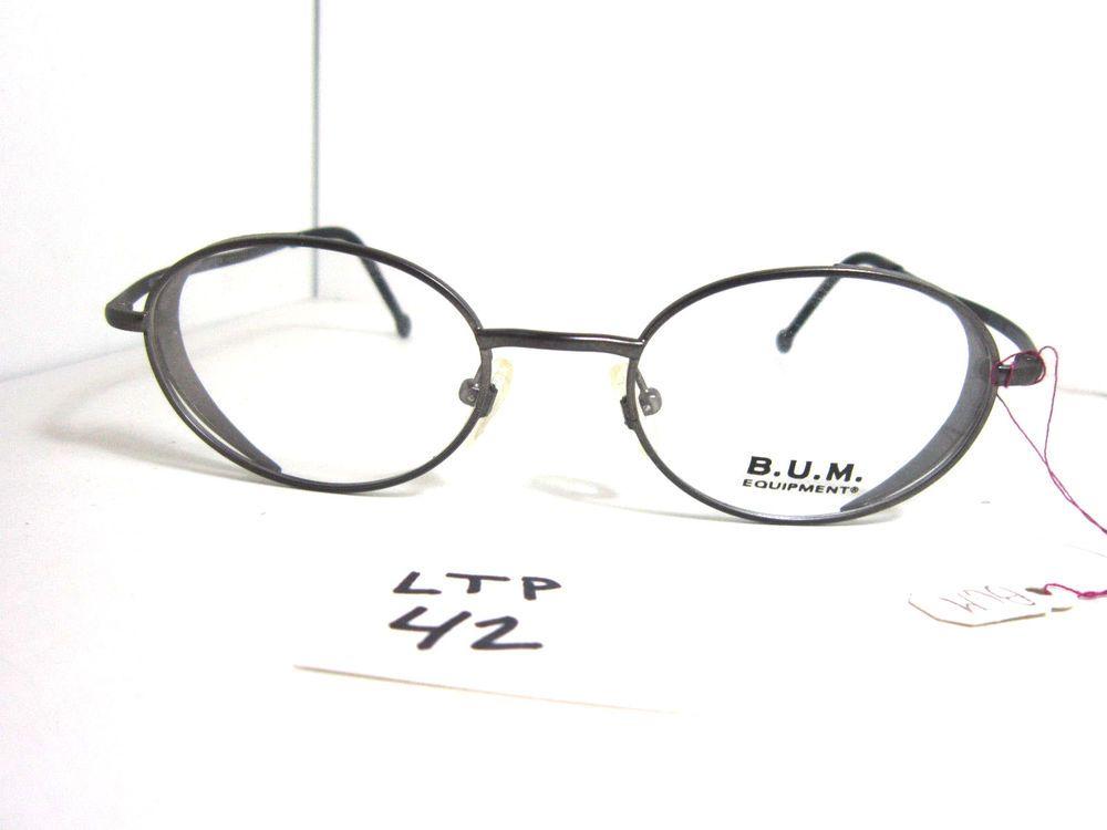Vtg 80s BUM EQUIPMENT Eyeglass Frame Icognito Dark Pewter Italy ...