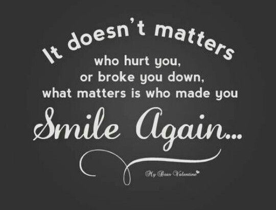Smile again no matter how yesterday was...