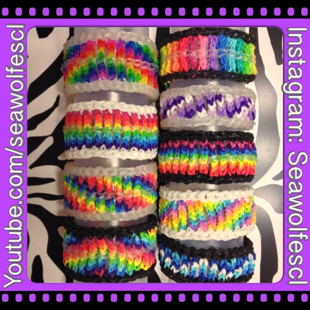 Cable Knit Bracelet on Rainbow Loom tutorial by Sea Wolfe.   Elastic ...