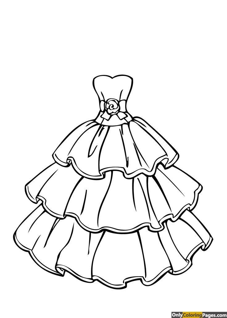 Princess Dress Coloring Page Ubamjen Barbie Coloring Pages Wedding Coloring Pages Coloring Pages For Girls