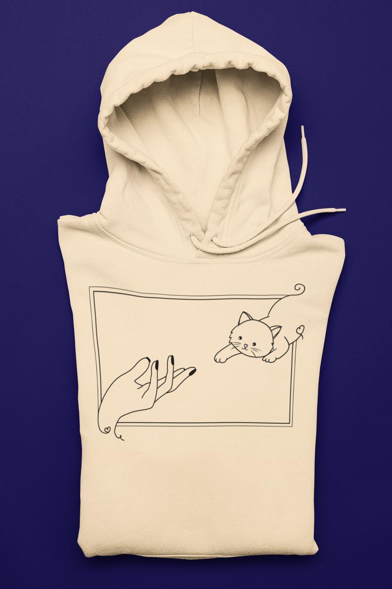 Minimalist Shirt Cat Lover Gift, Good Vibes Funny Cat Shirt