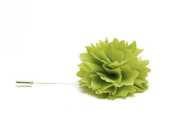 Flower lapel pin Pale green Carnation tie pin by etherealflowers, #etsyitaliateam