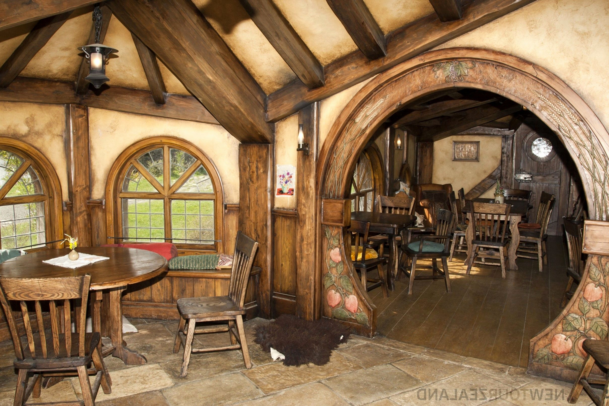 Image Result For Hobbit House Plans Hobbit House Hobbit House Interior Round House Plans
