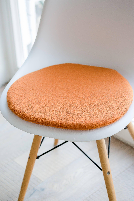 Stuhlkissen In Hellorange Passend Fr Eames Chair Limitiert Von Auf Etsy  With Eames Stuhl Orange